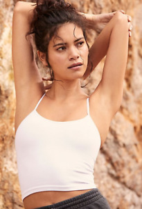 NEW Free People Movement Seamless Tighten Up Crop Top In White XS/S-M/L $24.80