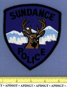 SUNDANCE WYOMING Sheriff Police Patch PRONGHORN DEER ROCKY MOUNTAINS