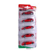 FERRARI IN BLISTER (5 Modellin) 1:64 Burago Auto Stradali Die Cast Modellino