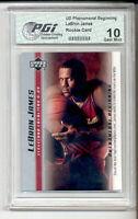 LeBron James 2003 Upper Deck PHENOM PGI 10 Rookie Card 10