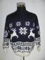 vintage ALBA Moda Strickpulli Wollpulli Strickpullover island hippie Wolle 42 L