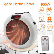 900W Portable Electric Space Fan Heater Ceramic Thermostat Remote Control Silent