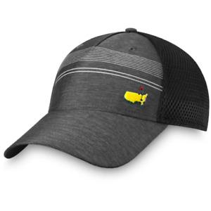 2021 Masters Golf Hat GRAY Performance Stripe Mesh Back Augusta National