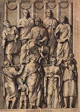 BARTOLUS Sanctus. Römische Allegorien (ALIMENTA ITALIAE).Origig. Kupfer um 1700
