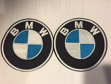 Lot of 2 BMW Automobiles Car Racing Motorcycle Hat Embroidered Iron On Patches