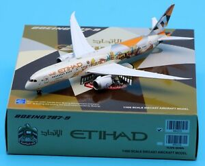 JC Wings 1:400 Etihad Airways Choose Italy B787-9 Diecast Aircraft Model A6-BLH
