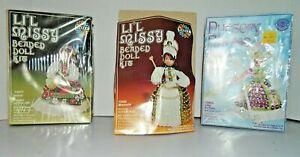Lot of 3 Lil Missy Beaded Doll Kits Heidi, Little Bo Peep, Majorette