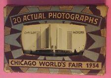 1934 CHICAGO WORLD'S FAIR ~ 20 MINIATURE ACTUAL PHOTOGRAPHS ~ FORD, GM, CHRYSLER