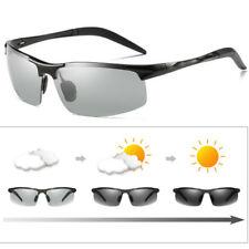 HD Men's Photochromic Sunglasses Polarized Chameleon Transition Lens Sun Glasses