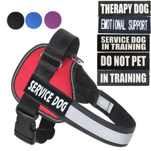 Reflective Service Dog Vest Harness W/ Removable Patches EMOTIONAL DO NOT PET