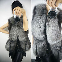 Ladies Women Warmer Faux Fur Sleeveless Vest Waistcoat Gilet Jacket Coat Outwear