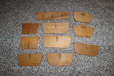 Lot of 10 Longaberger Woodcrafts Basket Dividers