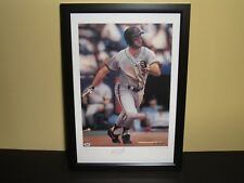 WILL CLARK & ARTIST DANIEL SMITH SIGNED AUTOGRAPHED FRAMED 16X22 LITHOGRAPH PSA