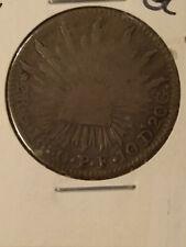 1850-Go PF 2 REALES SILVER COIN MEXICO (GUANAJUATO) KM-374.8 *