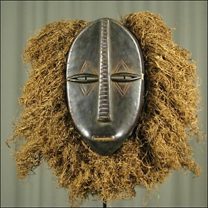 60605) Afrikanische Holz Maske Duala Kamerun Afrika KUNST