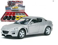 "5"" Kinsmart Mazda RX-8 Diecast Model Toy Car 1:36 Red, Yellow, Black or Silver"
