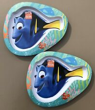 2x Zak! Designs Children's FINDING DORY/NEMO Shaped Melamine Plates, BPA-Free
