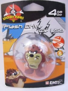 "EMTEC - 4 GB USB 2.0 FLASH DRIVE - LOONEY TUNES ""TASMANIAN DEVIL"" - NEW UNOPEN"
