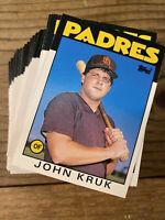 (100) 1986 Topps Traded #56T John Kruk Rookie San Diego Padres NM-MT+ Lot