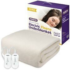 Electric Fleece Underblanket Fitted Mattress Topper Machine Wash Reverie DOUBLE