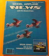 MODEL AIRPLANE NEWS WITH R/C BOATS & CARS MAGAZINE FEB/1981..VEGAS EAST