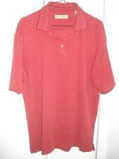 JAMAICA JAXX Striped Polo Shirt, Red & Dusty Rose, Men's XL