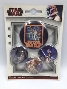 STAR WARS - CLASSIC POSTERS - 4 x  BUTTON BADGE PIN SET