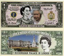 Queen Elizabeth Million Dollar Novelty Money