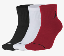 NIKE JORDAN EVERYDAY MAX 3PACK BASKETBALL QUARTER SOCKS - MULTI SX5544-011 UK5-8