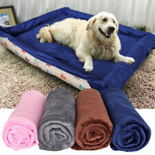 Extra Large Soft Cozy Warm Fleece Pet Dog Cat Blanket Bed Mat Cushion Blue Pink