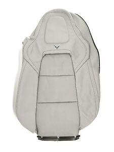 NEW OEM GM Passenger Seat Back Cover 23133458 Chevy Corvette Gray Leather 14-17