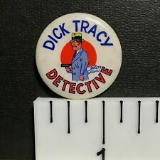 "Dick Tracy Detective, 1.25"" Vintage Novelty Cartoon/Comic Pin-Back Button"