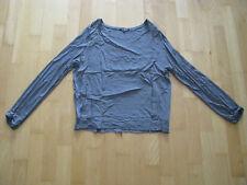 Deichgraf Damen Tunika Shirt Bluse Gr. S grau langarm seitliche Stretch-Einsätze