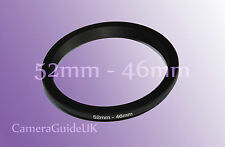 52mm to 46mm Male-Female Stepping Step Down Filter Ring Adapter 52mm-46mm UK