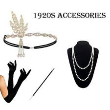 1920s 20s Gatsby Charleston Flapper Fancy Dress Accessories For Costume Lot
