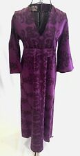 Vintage 60's Rare Marjatta Metsovaara Purple Damask Kitty Haas Maxi Dress Sz M/L