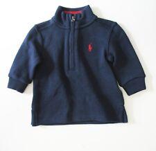 Ralph Lauren Baby Boys Half Zip Sweater French Navy Sz 6M - NWT