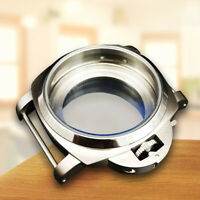 Stainless Steel Watch Case Shell 44mm for 6497 6498 Movement Spare Accessories
