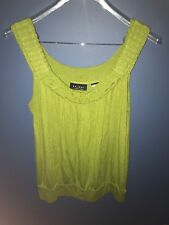 Axcess By Liz Claiborne Tank Top Green Small S
