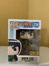 Funko Pop Animation Naruto Shippuden 739 Rock Lee Hot Topic Excl W/ Pop Case