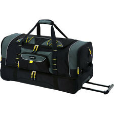 Jumbo 36 2-Section Rolling Duffel W/ Blade Wheels Telescopic Handle Travel Bag