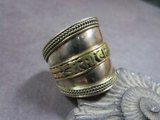 R169 Buy1 get 1 Tibetan OM Mani Mantra yoga Tribal meditation Ring Nepal Jewelry