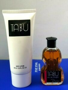 TABU Body Lotion 2 oz and Cologne Splash 0.5oz by Dana Fragrance unbox VINTAGE