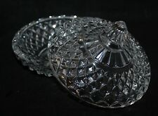 "Vintage 5 1/4"" Lidded Glass Pot - Retro/Kitsch - vgc"