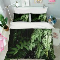 3D Green Leaves Quilt Cover Duvet Cover Comforter Cover Single 94
