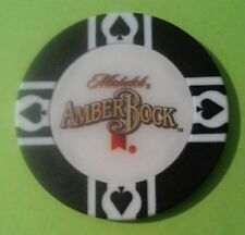 MICHELOB AMBER BOCK BEER / WORLD POKER TOUR BLACK CHIP GREAT FOR ANY COLLECTION!