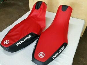 POLARIS PREDATOR 500 2003 TO 2007 MODEL SEAT COVER RED & BLACK  (P9)