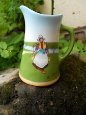 Ancien petit pot à crème lait en porcelaine décor Hollandaise M.Biais