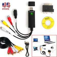USB2.0 VHS To DVD Converter Audio Video Capture Kit Scart RCA Cable for Win10