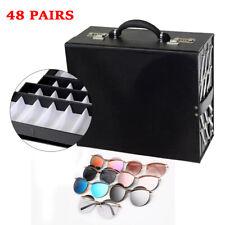 48 Pair Sunglass Organizer Eyeglasses Collector Eyewear Display Pu Leather Case